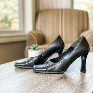 [ A L D O ] Black Leather Heels